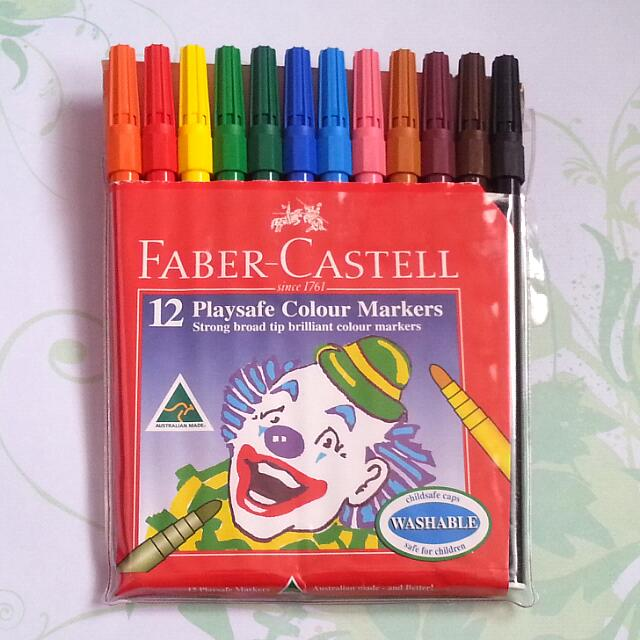 Used 12pk Faber Castell Texta Markers