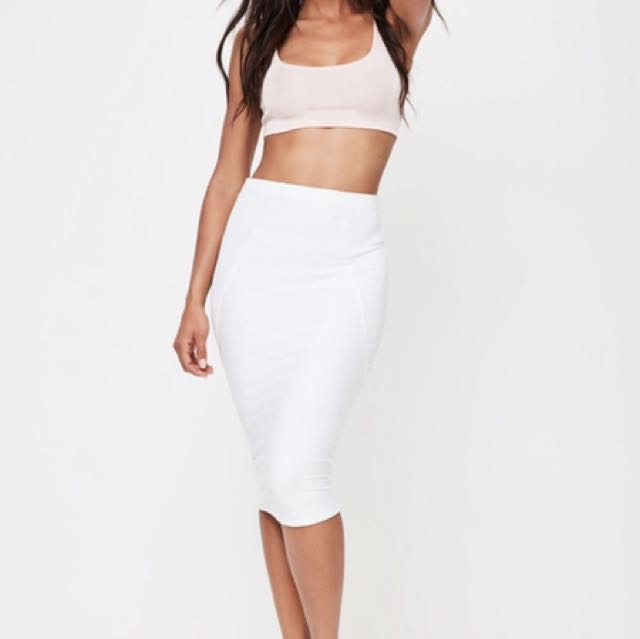 White Midi Skirt BRAND NEW