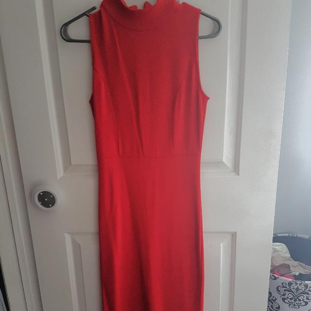 Womens Small Red Fitted Dress From Winners