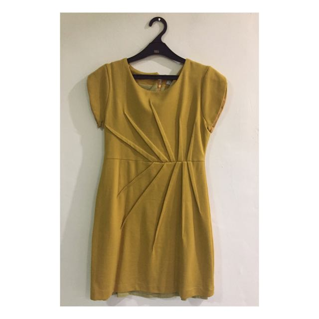 Yellow Mustard N.Y.L.A dress