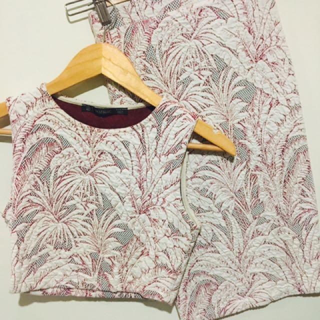 Zara Crop & Midi Skirt Size XS