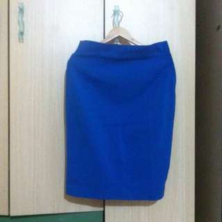 ZARA woman blue skirt