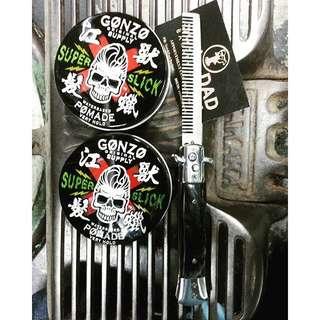 (2 Tins For Only $37 !!) Gonzo Super Slick Pomade