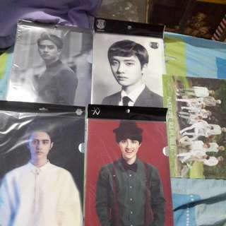 D.O EXO Nature Republic, Overdose, Exodus, Miracle In December, XOXO Official Clear File L-Holder