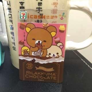 全新絕版拉拉熊icash悠遊卡(含200加值金)