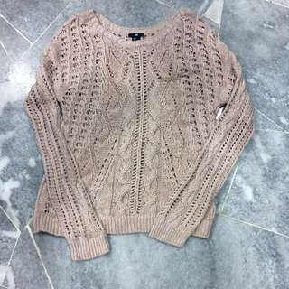 🌎BN HNM Knitted Nude Pink Sweater