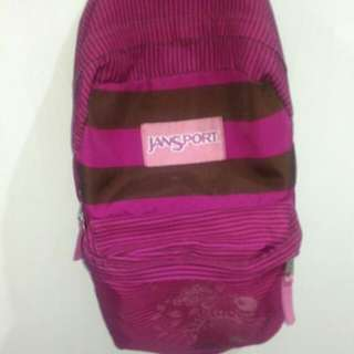 Jansport Pink and Brown Backpack