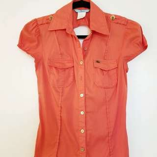 Marciano Orange Blouse XS