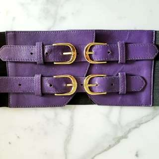 Bebe Purple And Black Belt XS