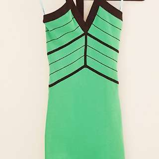 Marciano Green & Black Dress XS