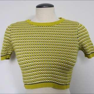 Topshop Yellow Crop Top