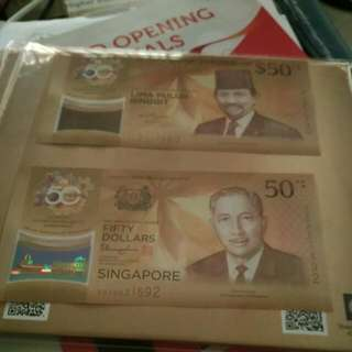 50 Year Brunei Singapore Money