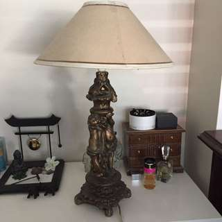 Antique Cherub Lamp
