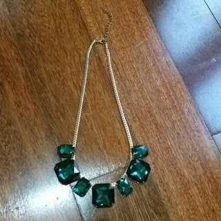 Green Diamond Necklace