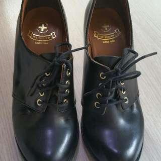 Dr Martens 黑色高爭鞋 二手 Us6 High Heel 高踭