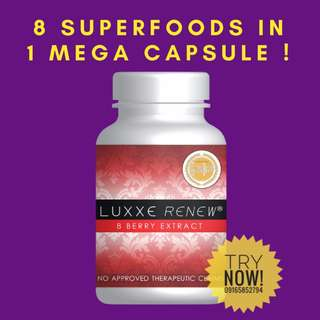 LUXXE RENEW 60's - 8 Berry Extract 60'S + 1 FREE SOAP