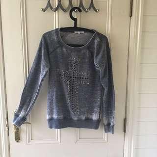 Faded Cross Sweater