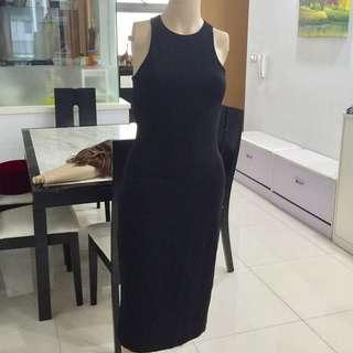 Brand New H&M Cut In Black Dress
