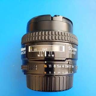 Nikon AF Nikkor 50mm 1.4D Lens