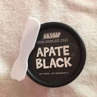 B&SOAP APATE BLACK Fresh Wash Off Pack