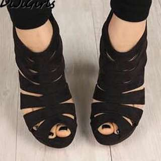 Gladiatoe Peep Toe High Heels
