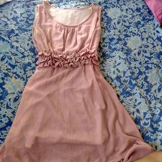 Chiffon Old Rose Dress