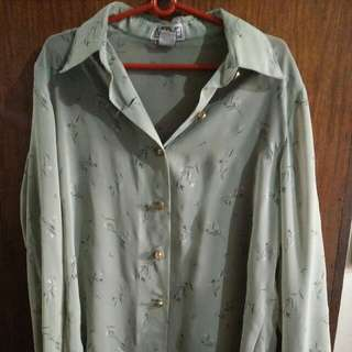 Preloved Olive Green Long Sleeve Top