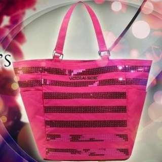 🚚 [Brand New] Victoria's Secrets Hot Pink Tote Bag
