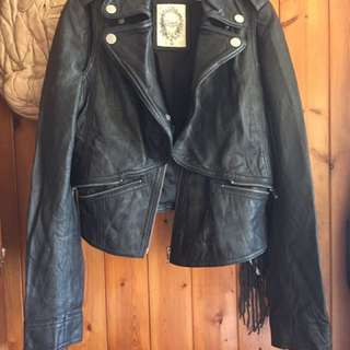 salad bauhaus Leather Jacket