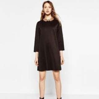Zara Trafaluc Sequinned collar dress