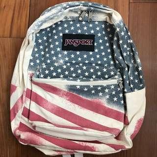 全新正品/Jansport熱賣斷貨款 美國國旗後背包