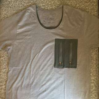 Oxygen Layered Tee with Pocket (Gray)