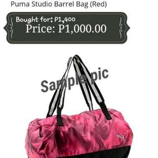 Puma Duffel Bag Red