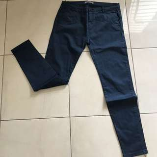 Pull and Bear skinny blue casual pants