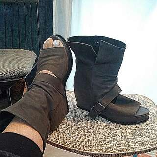 DOMO uplift Open Toe Ankle Boot...THE FUNK SHOE ENVY big Time.