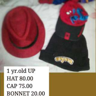 Cap, Bonnet And Hat