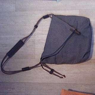 Canvas And Real Leather Boho Shoulder Bag