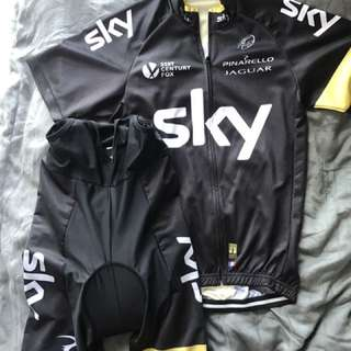 Team SKY jersey set - Bib shorts