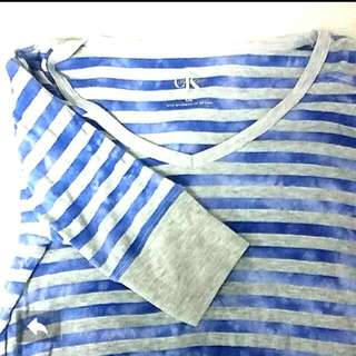 Calvin Klein Washed Out Blue Striped Shirt