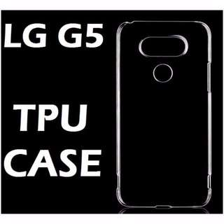 LG G5 Transparent  Crystal Clear TPU Case Casing Cover