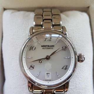 Mont Blanc Mother of Pearl Diamond Dial Ladies Watch