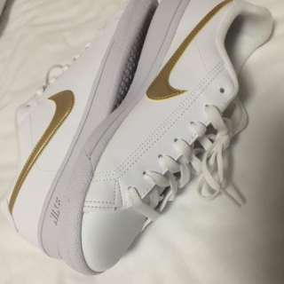 NIKE WHITE WITH GOLD PLATING