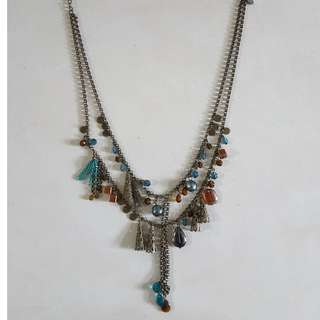 vintage antique two tier necklace