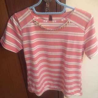 Pink strips top