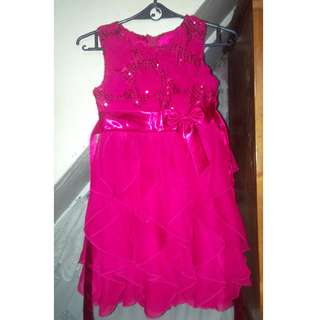 red dress fits for aged 3-5 yrs.old