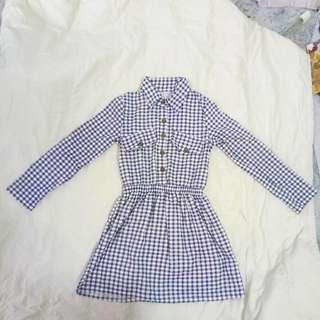 藍格 長袖  連身裙  🤘必須清衣櫃系列