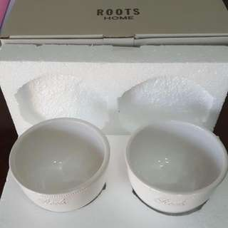全新Roots陶瓷碗(兩入)