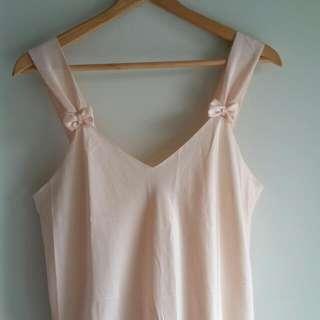 Pink Satin Night Dress