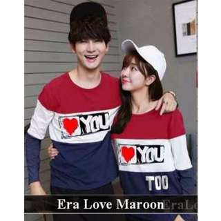 pusat Busana Couple Termurah | Lenganpanjang Couple Terlengkap | Baju Couple Era Love LP