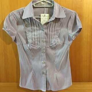 紫色彈性襯衫s號
